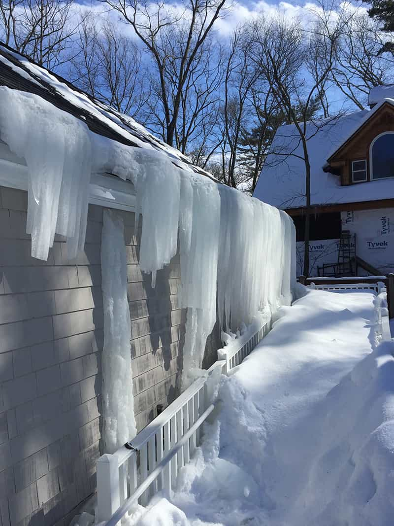 Roof Snow Ice Dam Removal Ri Ma Renaissance Roofing